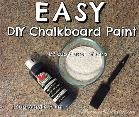 chalkboard paint using plaster of chalkboard pallet my blessed