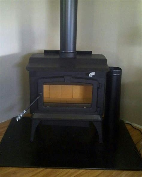 great wood stove all hooked up and quot mobile home