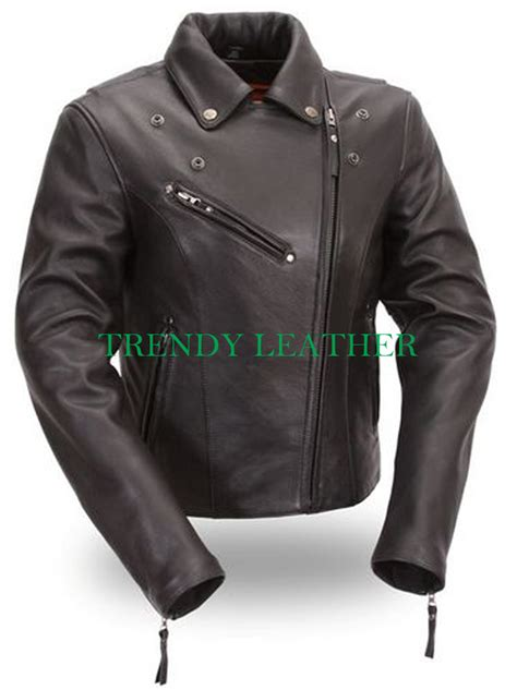 leather racing jacket women s classic bikers racing real leather jacket