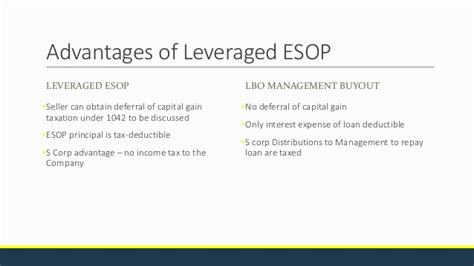 section 1042 esop business succession the esop model