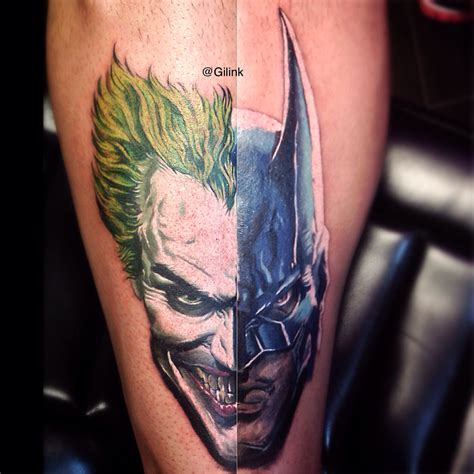 tattoo batman joker batman joker dc comics color tattoo tattoos portrait