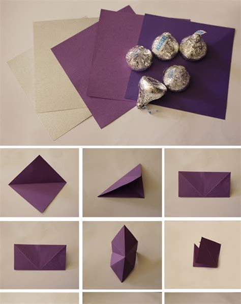 Origami Chocolate - diy origami kisses chocolate for dessert bar or