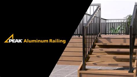 how to fit a banister peak aluminum railing stair railing installation youtube