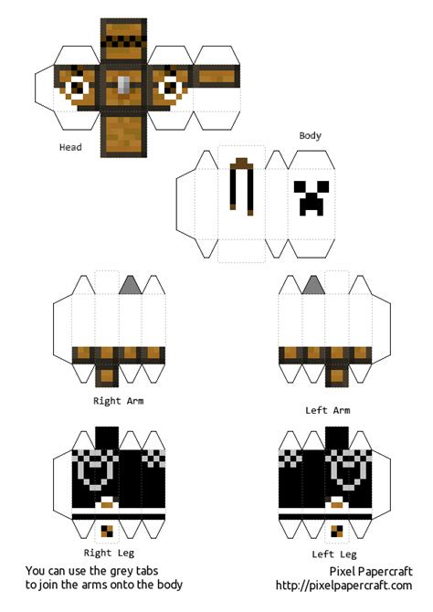 Minecraft Papercraft Skins - pixel papercraft minecraft skins related keywords pixel