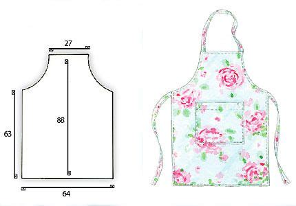 pattern for simple apron easy sew patterns just follow the given measurements