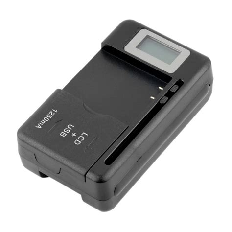 caricabatteria da tavolo universale mobile universal battery charger lcd indicator screen for
