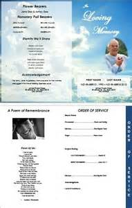 clouds 4 page graduated outdoor program for funeral or