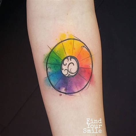 color wheel tattoo made a lil color wheel tattoos