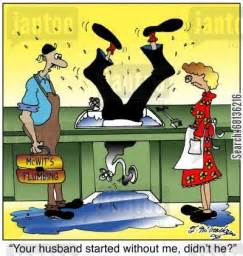 Leaky Kitchen Faucet Repair House Repair Cartoons Humor From Jantoo Cartoons