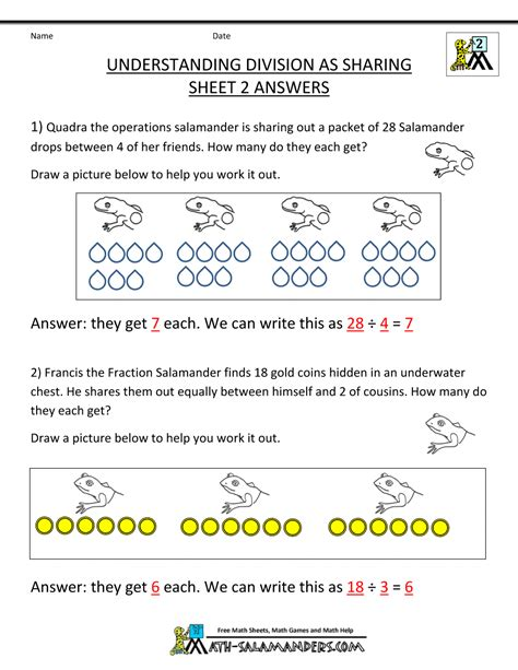 printable division games for grade 2 second grade division worksheets