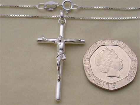 genuine 925 sterling silver crucifix cross pendant