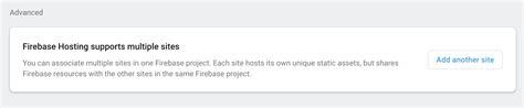 Firebase Hosting Deploy Multiple Sites