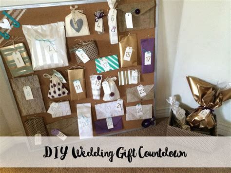 Handmade Wedding Presents - diy wedding gift countdown board gifts from bridesmaids
