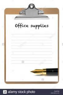 office supplies blank list stock photo royalty free image