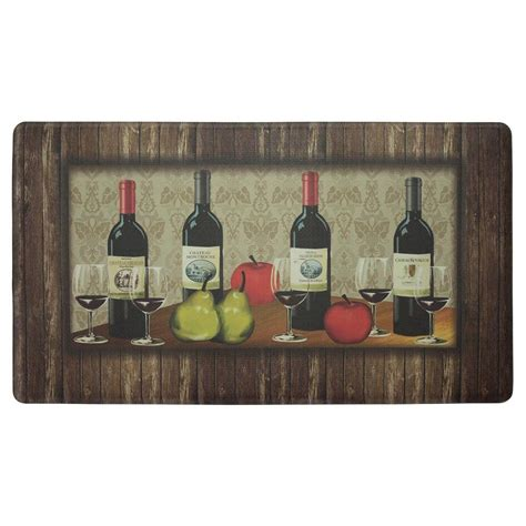 Wine Kitchen Mat by Chef Gear Sophisticated Wine 20 In X 32 In Thick