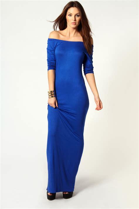 boohoo the shoulder sleeve maxi dress ebay