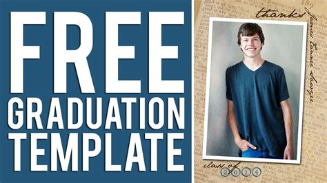 free graduation announcement template free graduation templates tutorial photoshop elements