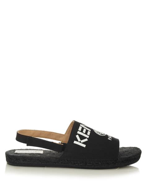 Kenzo Sandals kenzo sarse canvas sandals in black for lyst