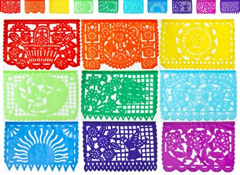 printable mexican banner mexican papel picado tissue paper banner one 13 foot