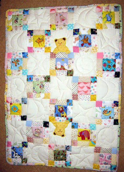 Child Quilt by Teddy Chain Baby Quilt Baby Quilts