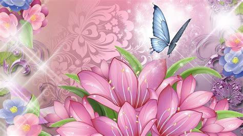 pink butterfly backgrounds wallpapertag