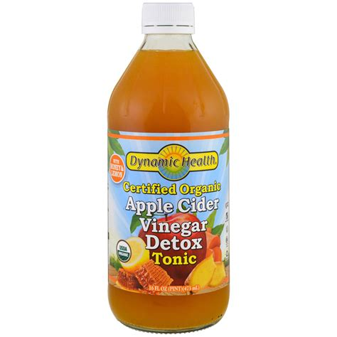 Detox Drink Sold In Store by Dynamic Health Laboratories Certified Organic Apple Cider