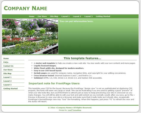201209 Landscape Landscape Templates Free