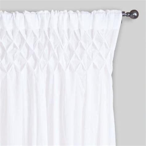 smocked curtain white smocked top cotton curtains set of 2 world market