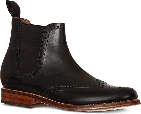 black chelsea boots grenson jacob chelsea boots in black for lyst