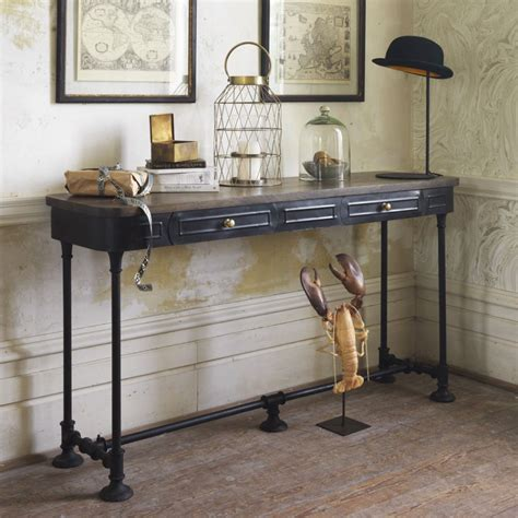 black metal console table black metal console table decor console