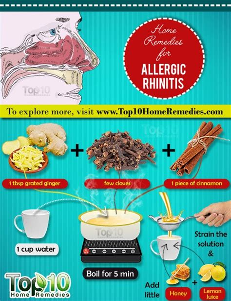 home remedies for allergic rhinitis top 10 home remedies