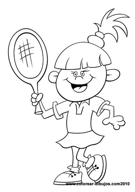 imagenes de niños jugando tenis para colorear dibujos de deportes para colorear dibujos de ni 241 a jugando