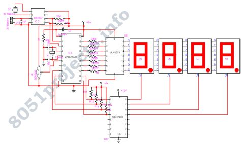 clock circuit diagram gt microcontrollers gt avr gt remote controlled digital clock