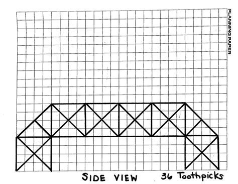 toothpick bridge templates pin toothpick bridge exles on