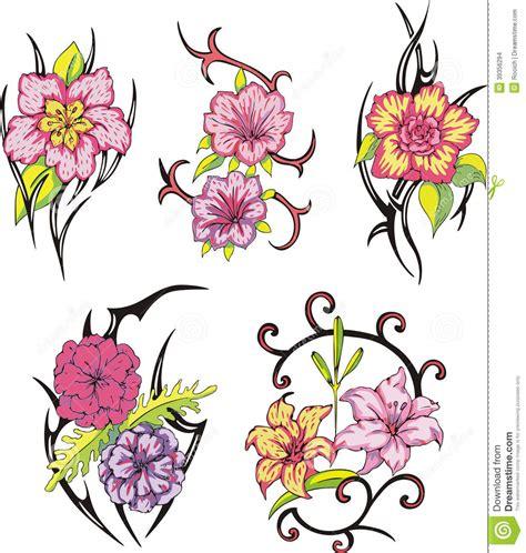 tattoo flower vector tribal flower tattoos stock vector image 39356294