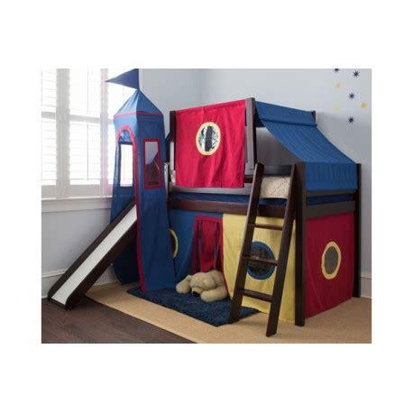 bunk beds for less royal flush29 twin low loft bed ladder slide