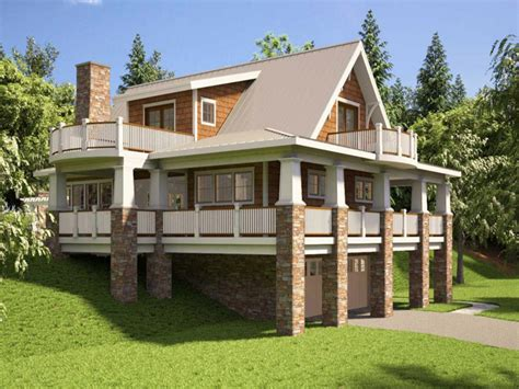 home plans for sloping lots hillside house plans with walkout basement hillside house