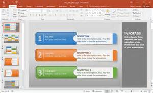 powerpoint create a template create animated infographics with info tabs powerpoint