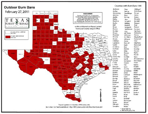 texas county burn ban map florence vol department