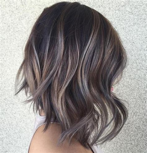 ash gray highlights on brown hair 35 smoky and sophisticated ash brown hair color looks