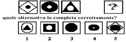 Test Di Logica Con Figure - test e quiz logica e cultura generale quinto test