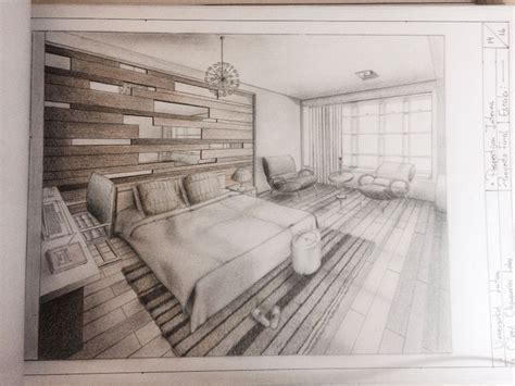 dibujo perspectiva interna sobre percepcion de espacios