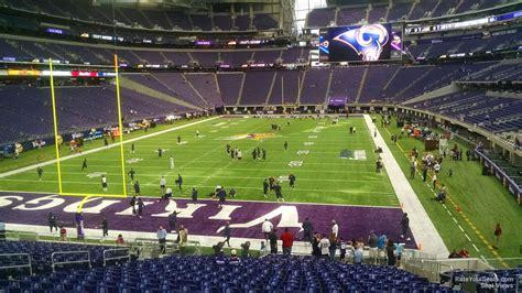 fan zone us bank stadium u s bank stadium section 140 rateyourseats com