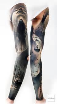 badass norwegian sleeve by rainer lillo backbone tattoo
