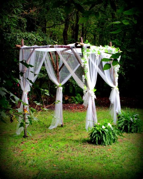 Wedding Arbor With Tulle by Rustic Arbor And Tulle Create A Look Real