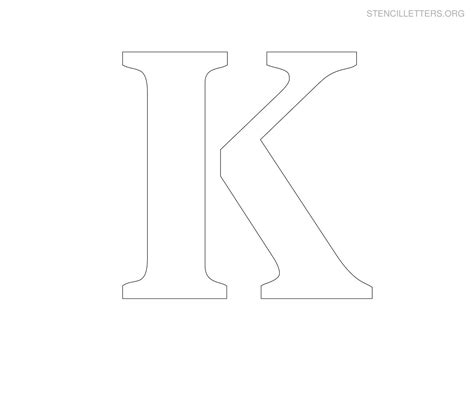 letter k template printable large number stencils search results