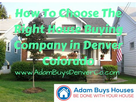 house buying companies choose the right house buying company in denver