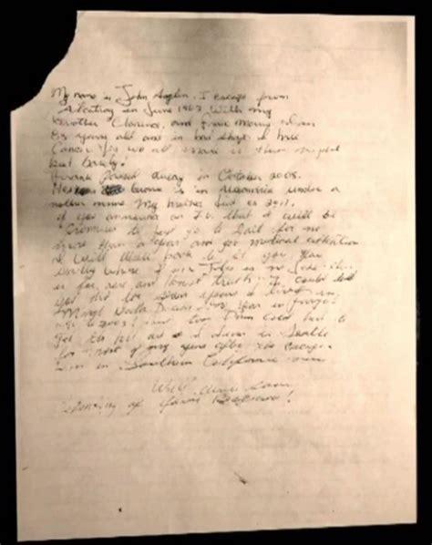 Alcatraz Escapee Writes Letter who escaped alcatraz sends fbi letter 50 years later