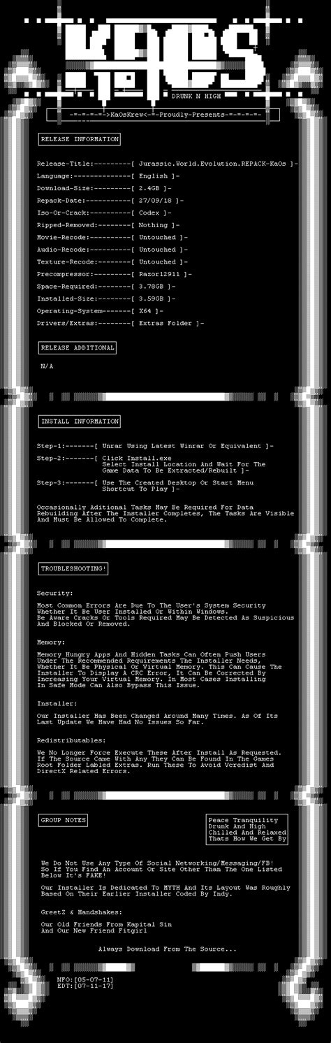 Kaos Jurassic World 10 jurassic world evolution repack kaos torrent windows
