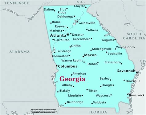 map of georgia cities cities in georgia usa georgia speedtrap org